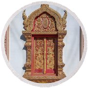 Wat Buppharam Phra Wihan Window Dthcm1582 Round Beach Towel