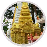 Wat Krom 30 Round Beach Towel
