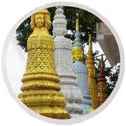Wat Krom 31 Round Beach Towel