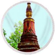 Wat Krom 32 Round Beach Towel