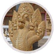Wat Kumpa Pradit Phra Wihan Five-headed Naga Dthcm1664 Round Beach Towel