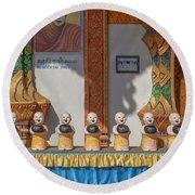 Wat Mae Faek Luang Phra Wihan Daily Merit Bowls Dthcm1879 Round Beach Towel