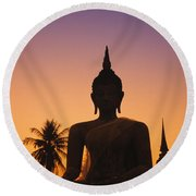 Wat Mahathat Round Beach Towel