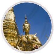 Wat Phra Kaeo Round Beach Towel