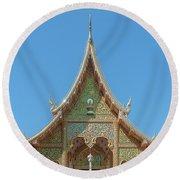 Wat Suan Prig Phra Wihan Gable Dthcm2391 Round Beach Towel