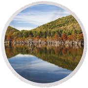 Watagua Lake, Tn Round Beach Towel