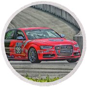 Watch Out Audi  Round Beach Towel