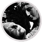 Watch Over Me  Round Beach Towel