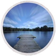 Watch The Day Go By Round Beach Towel