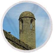 Watch Tower On The Castillo Round Beach Towel