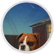 Watchdog Round Beach Towel