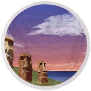 Watchers Round Beach Towel