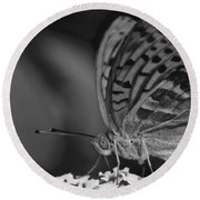 Watchful Butterfly Round Beach Towel