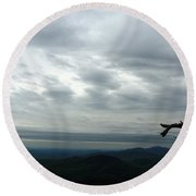 Watching Over Shenandoah Valley Round Beach Towel