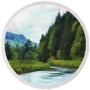 Watching The Days Go By Round Beach Towel