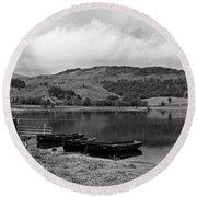 Watendlath Tarn In The Lake District Cumbria Round Beach Towel