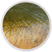 Water Abstract - 1 Round Beach Towel
