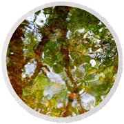 Water Abstract 17 Round Beach Towel
