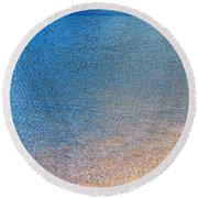 Water Abstract - 3 Round Beach Towel