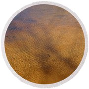Water Abstract - 4 Round Beach Towel