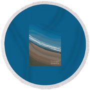 Water And Sand Round Beach Towel