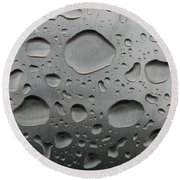 Water And Steel Round Beach Towel