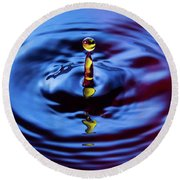 Water Art  Round Beach Towel