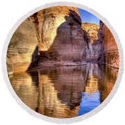 Water Canyon Round Beach Towel