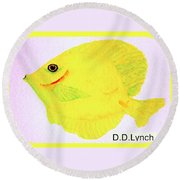 Water Color Of Fish Round Beach Towel