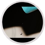 Water Drop Round Beach Towel