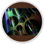 Water Droplets 1 Round Beach Towel