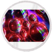 Water Droplets 3 Round Beach Towel