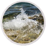 Water Elemental Round Beach Towel