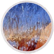 Water Fountain Abstract #63 Round Beach Towel