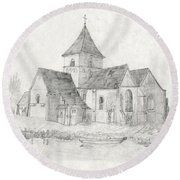 Water Inlet At Church Round Beach Towel