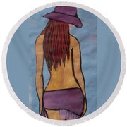 Water Is Cool Round Beach Towel