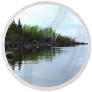 Water Like Glass Round Beach Towel