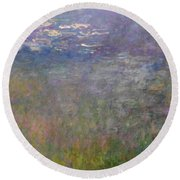 Water Lilies, 1926 Round Beach Towel