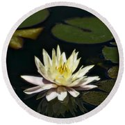 Water Lilly  Round Beach Towel