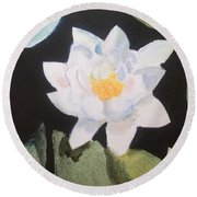 Water Lily 4 Round Beach Towel