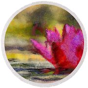 Water Lily - Id 16235-220419-3506 Round Beach Towel