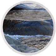 Water Ouzel, Middle Fork Kaweah River, Sequioa National Park Round Beach Towel