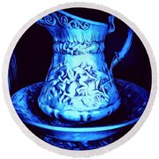 Water Pitcher And Bowl Still Life Round Beach Towel