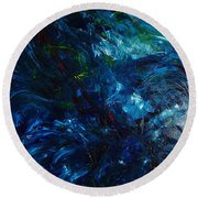Water Reflections 1 Round Beach Towel