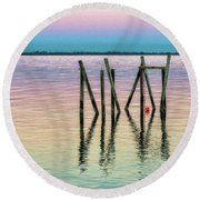 Water Reflections 2017 Round Beach Towel