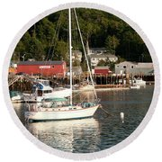Water Song 1459 Round Beach Towel