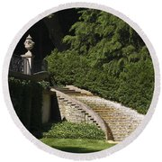 Water Staircase Round Beach Towel