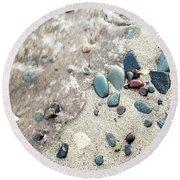 Water Stones Round Beach Towel