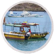 Water Taxis Waiting Round Beach Towel