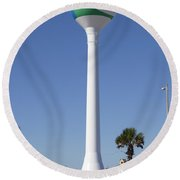 Water Tower - Pensacola Beach Florida Round Beach Towel